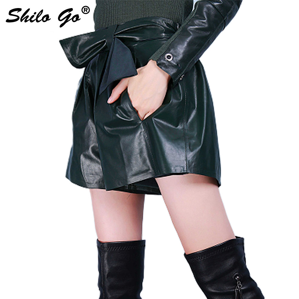 Moda Oveja Cinturón Genuino Verde Pierna Cintura 1 Oscuro Cuero Pantalones Stretch Ancha De Mujer Para Piel Primavera Alta 7FnA8qIw