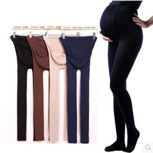 2018 Adjustable cotton High Elastic maternity Plus Size Leggings pregnant clothes pants for women stockings Anti-off silk 320D