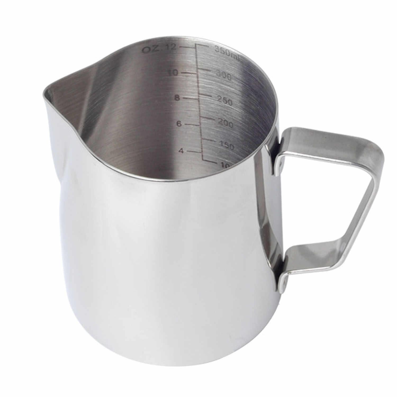 12 Behogar 350 ml oz Jarro Jarro De Leite Em Aço Inoxidável com a Marca de Medição Latte Art Pen para Cappuccino Espresso fazendo