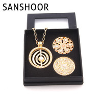 18K Gold Plated Jewelry Box Set With 2pcs Deluxe Coin Disc And 1 Set My Coin