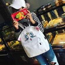 Аниме Сейлор Мун Косплей Вышитые сумки на ремне, милый мультфильм котенок котенок студент холщовый мешок подарок на день рождения