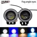 ULRIGO 2 PCS Voiture LED Brouillard Feux Engel Augen Feux Diurnes 2.5/3.0/3,5 pouce Objectif DRL COB LED 7 Couleurs Moto phare