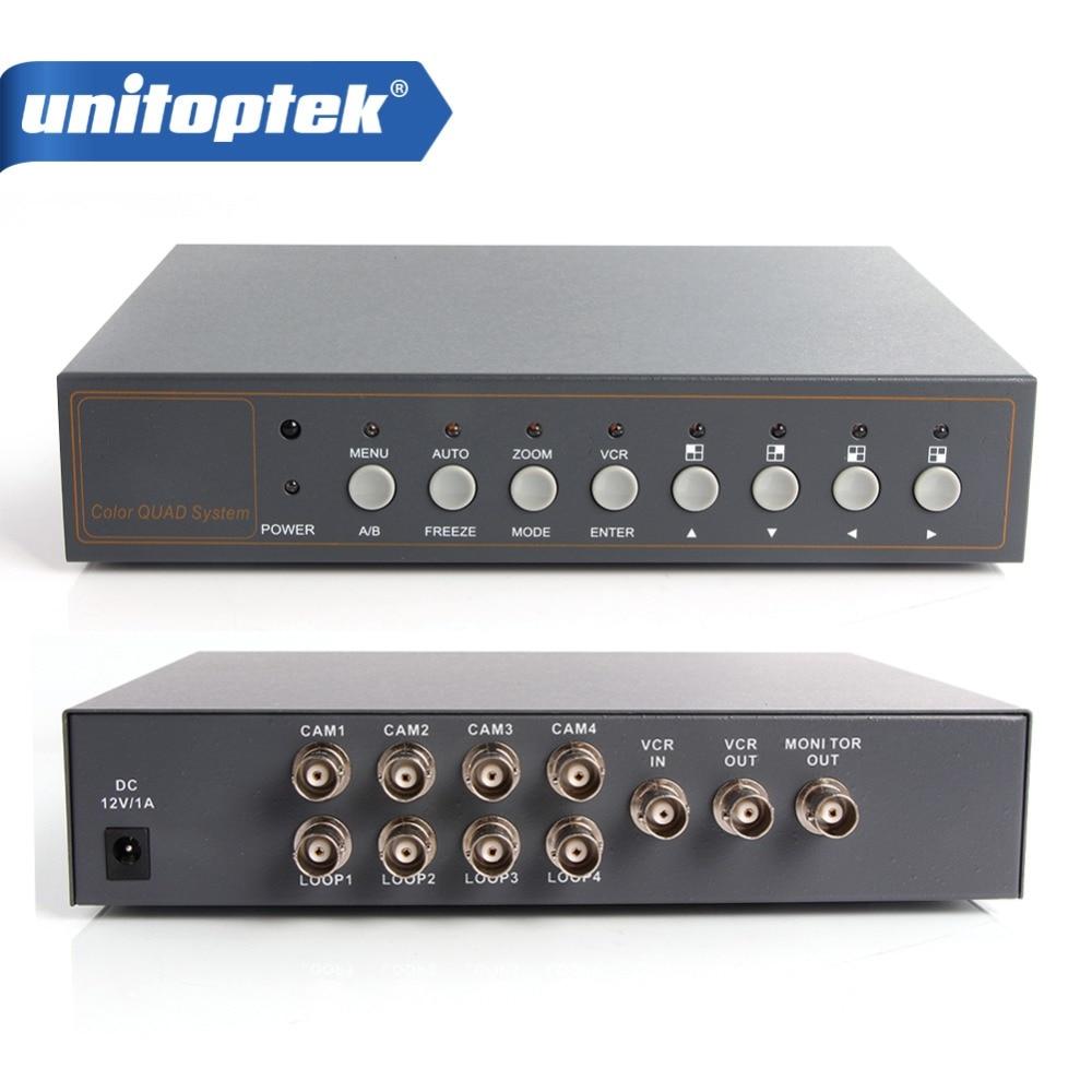 4CH Color Video Quad Splitter Processor For CCTV Video Surveillance System