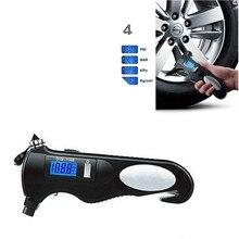 Многофункциональный автомобиль Air Давление Манометр Цифровой Дисплей 150 фунтов/кв. дюйм Портативный точность шин Давление датчик с сигнальная лампа Flashligh