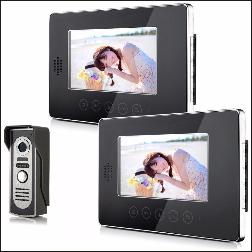 7 Inch LCD Monitor Intercom Video Door Phone 2IN1 Metal Camera