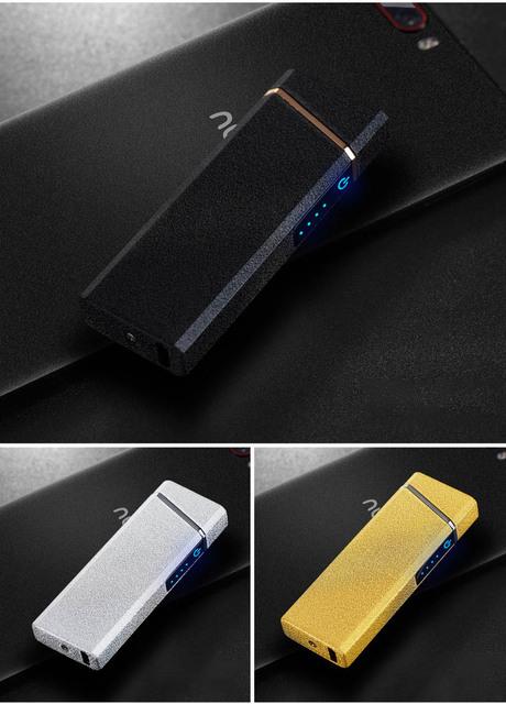 Plasma Lighter USB Windproof Electronic Lighter Rechargable Cigarette Ignitor For Smoking Free Laser Logo