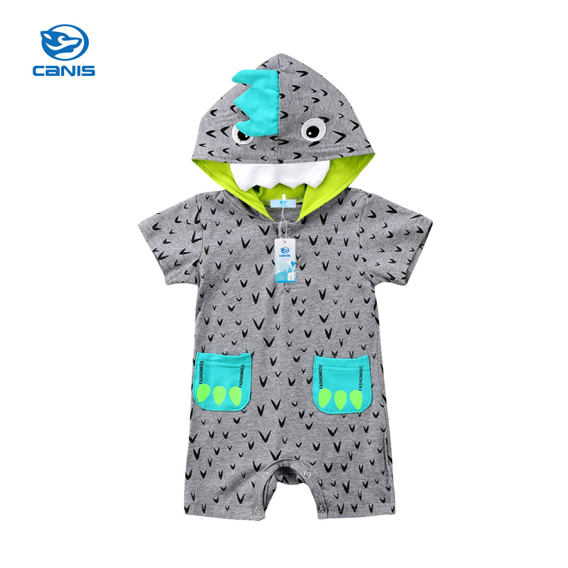 CANIS Rompers Newborn Toddler Baby Kids Girl Boy Romper Clothes Little Monster Jumpsuit Outfits Bebe Girls Boys Rompers summer
