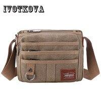High Quality Multifunction Canvas Bag Travel Bag Men Messenger Handbag Brand Men S Crossbody Bag Luxury