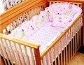 Promoción! 6 unids niños pieza juego de cama cuna parachoques cuna para bebé ( bumpers + hojas + almohada cubre )