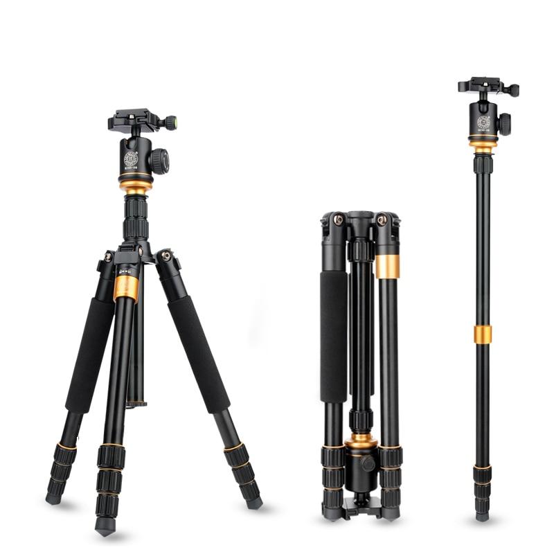 QZSD Q999S Профессиональный Портативный легкий Штативы DSLR Камера Tripode Съемная монопод шаровой головкой путешествия рубец мешок карман