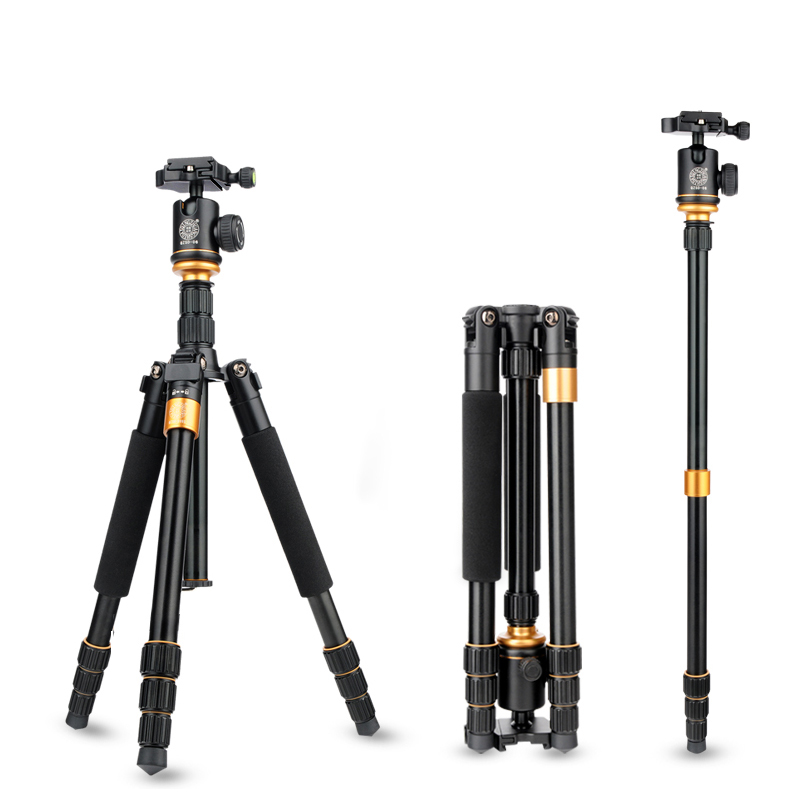 Здесь продается  QZSD Q999S Professional Portable Lightweight Tripods DSLR Camera Tripode Detachable Monopod Ball Head Travel Tripe Bag Pocket  Бытовая электроника