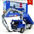 Grua caminhão 1:50 liga brinquedo do carro modelo de simulação de alta engenharia, De fundição de metal, Brinquedos educativos, Frete grátis