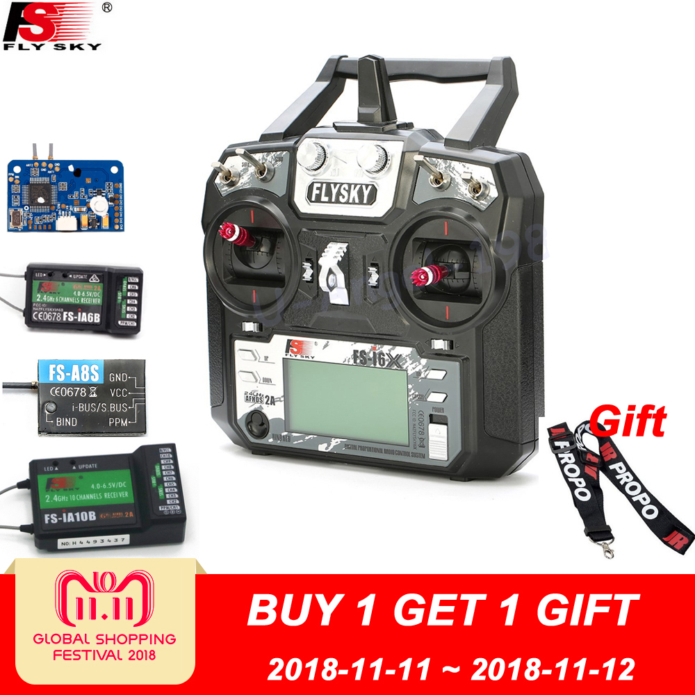 Original Flysky FS-i6X 10CH 2.4GHz AFHDS 2A RC Transmitter With FS-iA6B FS-iA10B FS-X6B FS-A8S Receiver For Rc Airplane Mode 2 1 set fs i6x 10ch 2 4ghz afhds 2a rc transmitter with fs ia6b fs ia10b fs x6b fs a8s receiver for remote control plane model
