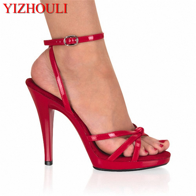 13cm Hot sexy shoes fashion womens open toe platform sandals classic 5 Inch knot Stiletto With Platform black Dance Shoes13cm Hot sexy shoes fashion womens open toe platform sandals classic 5 Inch knot Stiletto With Platform black Dance Shoes