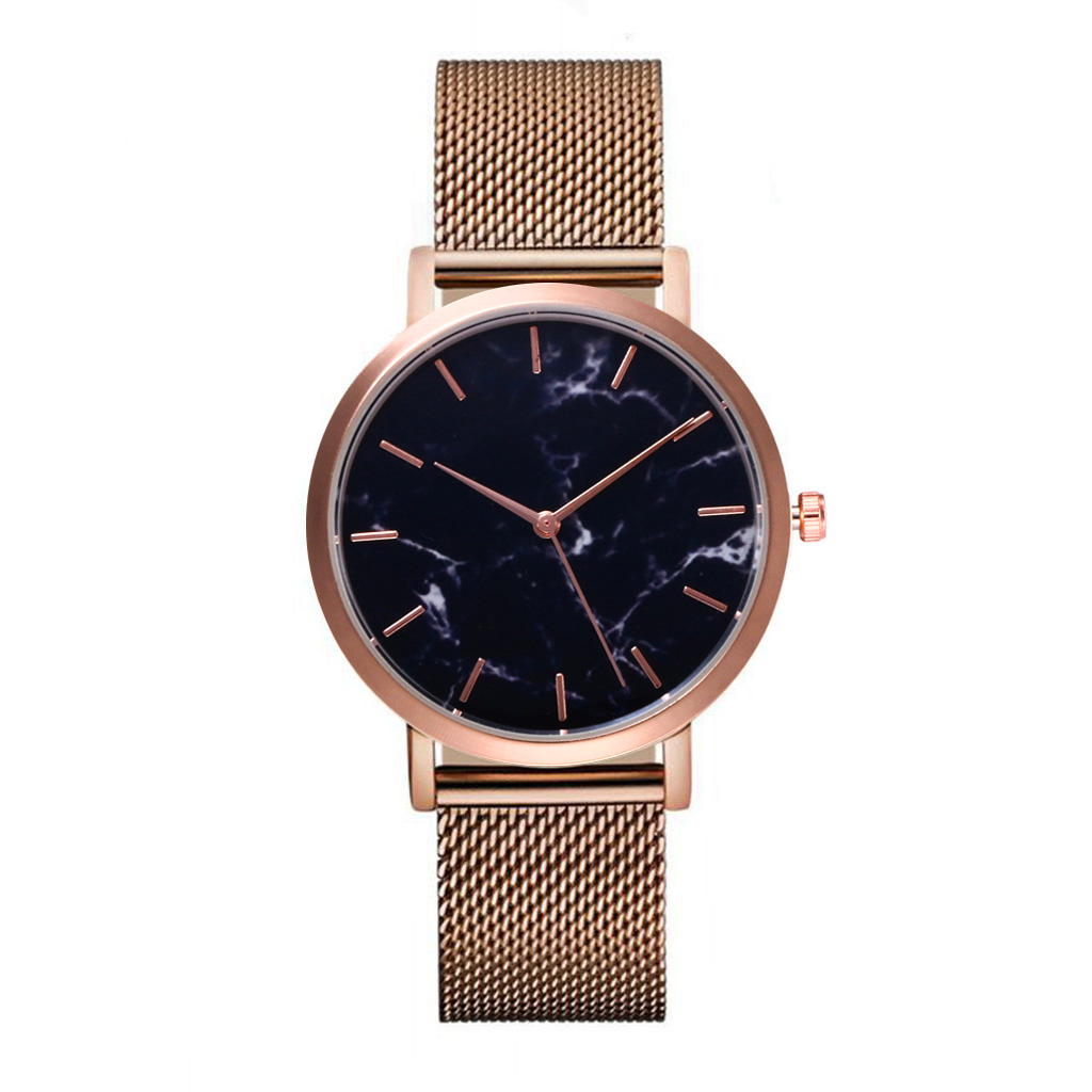 FUNIQUE  Men's Simple Clock Marble Women Watches Stainless Steel Quartz Watch Montre Femme Dress Wristwatch Reloj Hombre funique fashion gold dial women leather watches casual tree pattern dress quartz wristwatch for girls clock hour montre femme