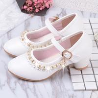 Enfants Chaussures Filles Sandales Ruches Rose Blanc Fille Chaussures Perle En Cuir Souple Femelle Sandale Enfants Princesse Robe Chaussures