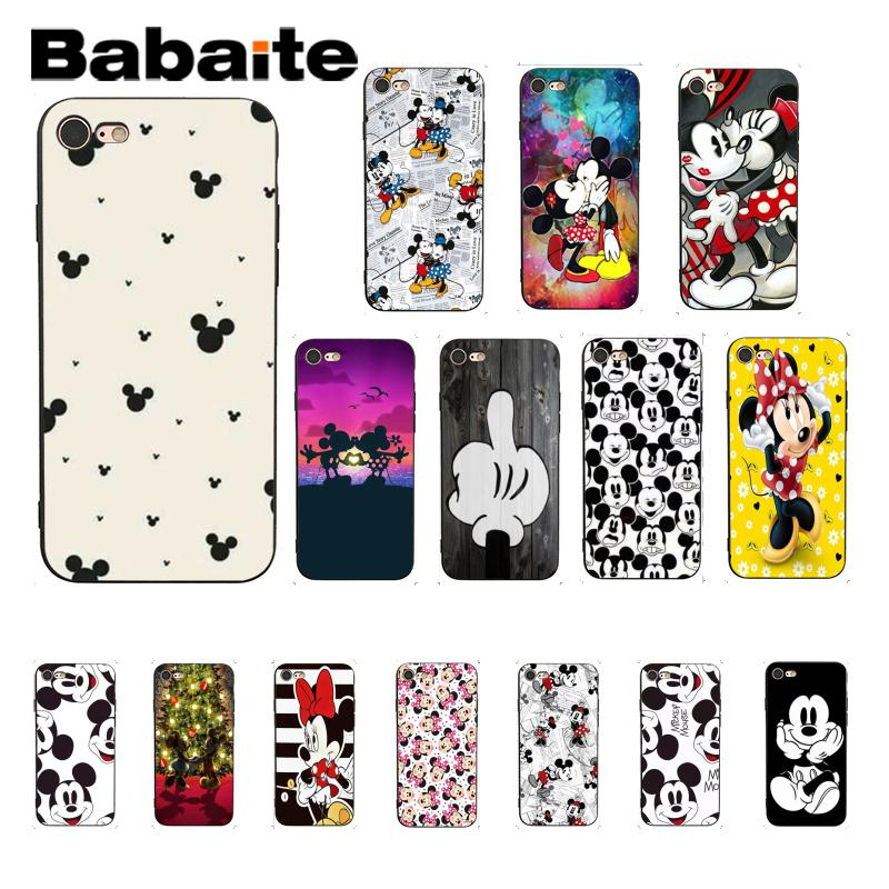 Babaite Beauty Cartoon <font><b>Mickey</b></font> Minnie Mouse Christmas <font><b>Coque</b></font> Shell Phone Case for <font><b>iPhone</b></font> <font><b>6S</b></font> 6plus 7 7plus 8 8Plus X Xs MAX 5 5S XR image