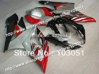 Injection mold custom for 2005 suzuki gsxr 1000 fairings K5 2006 GSXR 1000 fairing 05 06 glossy silver with black Dw51