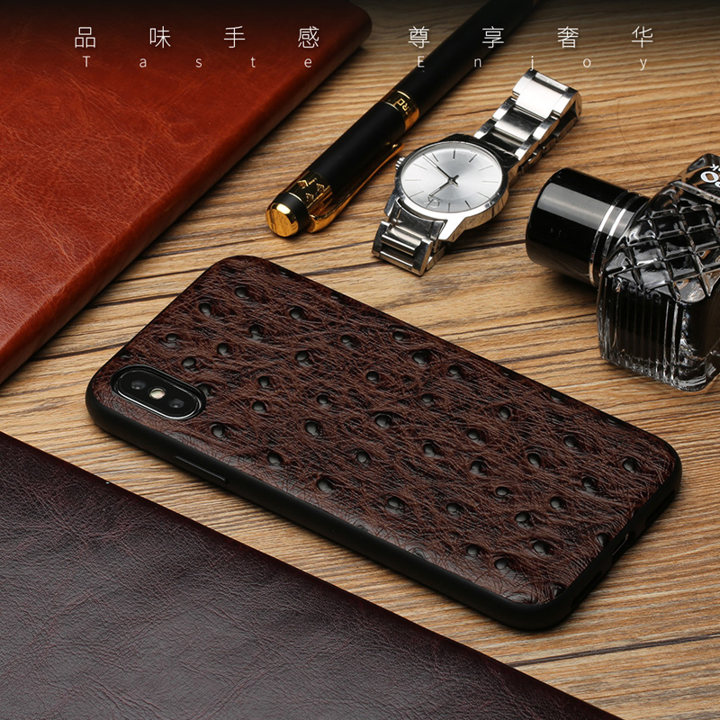 For iPhone X 10 Case Luxury Genuine Leather Cases for iPhone 6 7 8 Plus Cover  for iPhone 8 5S SE 6S Corium Shell Bags silicone