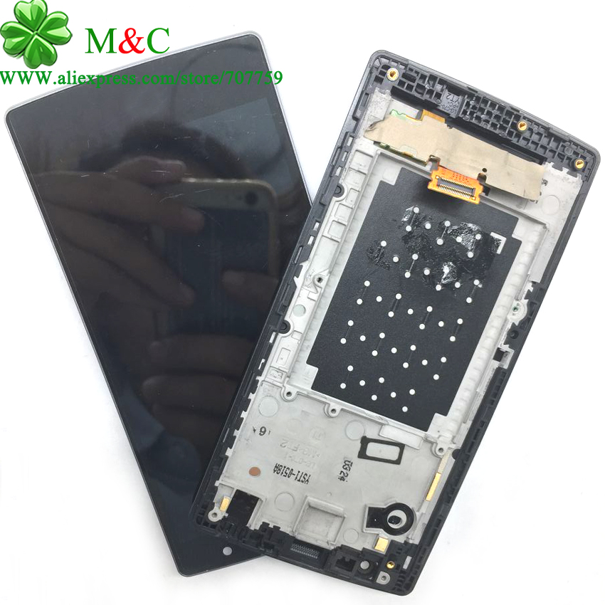 OEM Spirit LCD Touch Panel for LG Spirit H440N H442 H422 LCD Display Touch Screen Digitizer With Frame Assembly Free Track