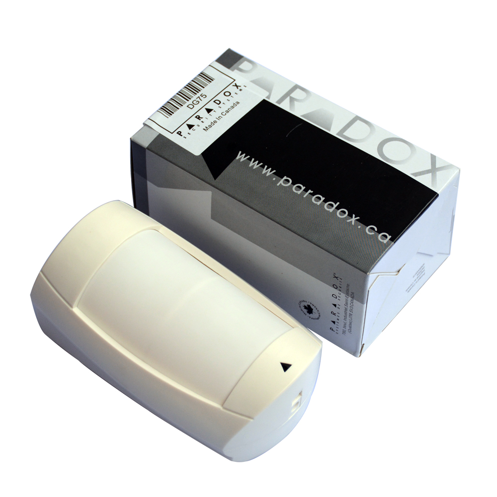 1 Uds. detector infrarrojo de Interior para alarma de seguridad, cable antirrobo, sensor de movimiento PIR, paradx DG75, detector de intrusos, envío gratis Luz LED de noche con Sensor de movimiento PIR, lámpara LED de noche, iluminación de techo, lámparas de techo para sala de estar