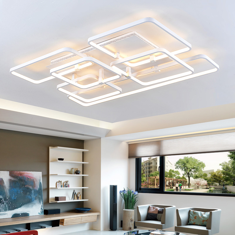 New Modern Led Ceiling Lights For Living Room Bedroom Ceiling Lamp lamparas de techo AC85~265V Home decoration lighting fixtures new modern led ceiling lights for living room bedroom plafon home lighting combination white and black home deco ceiling lamp