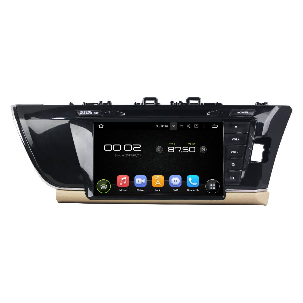 7 Octa-core Android 6.0 Car DVD Player For Toyota COROLLA 2014 Car Video Audio Stereo Free MAP Car Multimedia Player