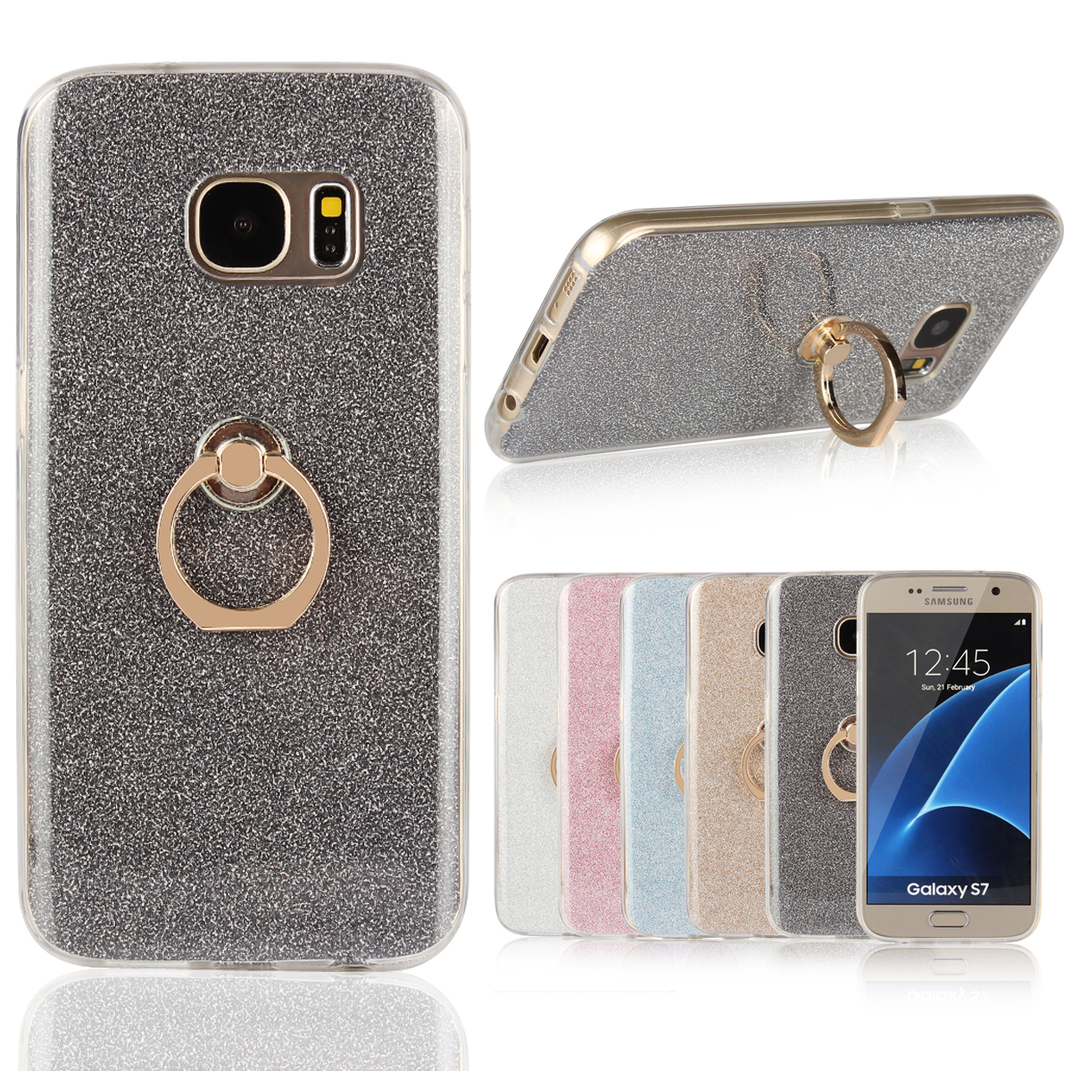 Case for Samsung Galaxy S7 TPU Case for Samsung S7 SM-G930U G9308 G9300 G930W8/FD/F/R7/S/P/V/T/A Finger buckle Phone bag