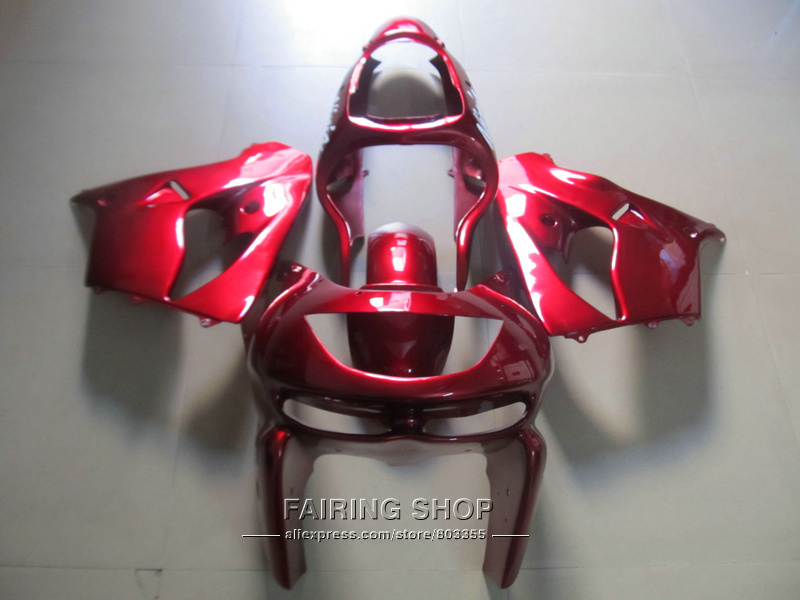 Hot sale plastic fairing kit For Kawasaki ZX9R 98 99 red fairings set ninja zx9R 1998 1999 XG25