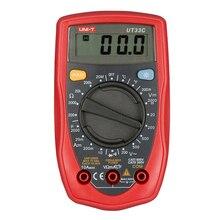 UNI-T UT33C Ручной Мультиметр Амперметр Ом Вольт Метр Температура Цифровой Универсальный Измеритель ЖК Count 1999 AVO Метр Высокой Точности