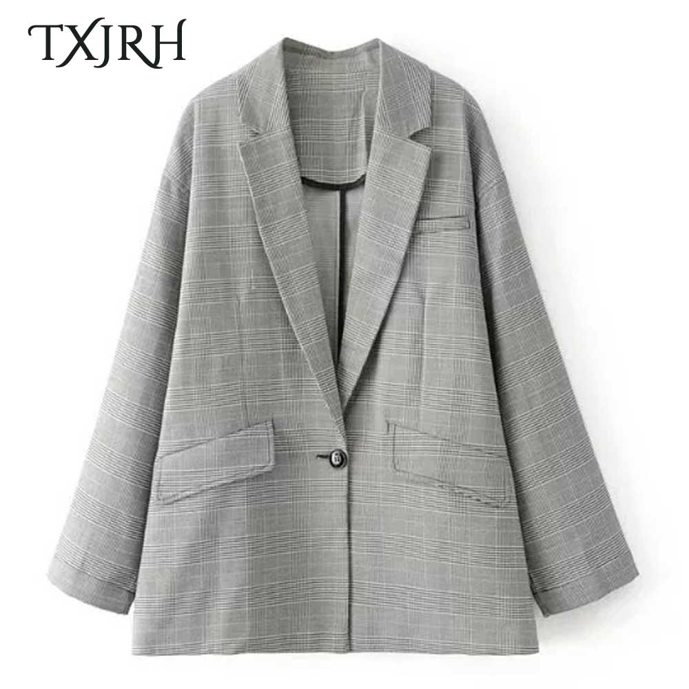 Online Buy Wholesale houndstooth blazer women from China ...