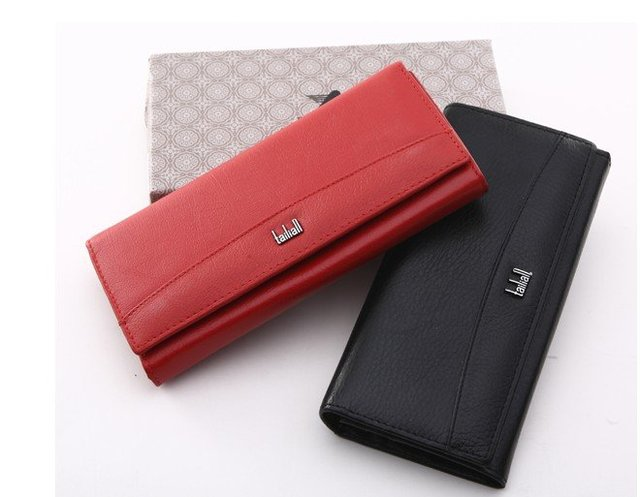 Women Long Style Leather Purse 100% Genuine Cow Leather Wallet  Small Clutch Bags