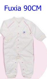 Комбинезоны для маленьких мальчиков и девочек, коллекция года, Одежда для новорожденных и малышей, детский хлопковый комбинезон с длинными рукавами, Красивый хлопковый комбинезон унисекс - Цвет: 90CM FUXIA