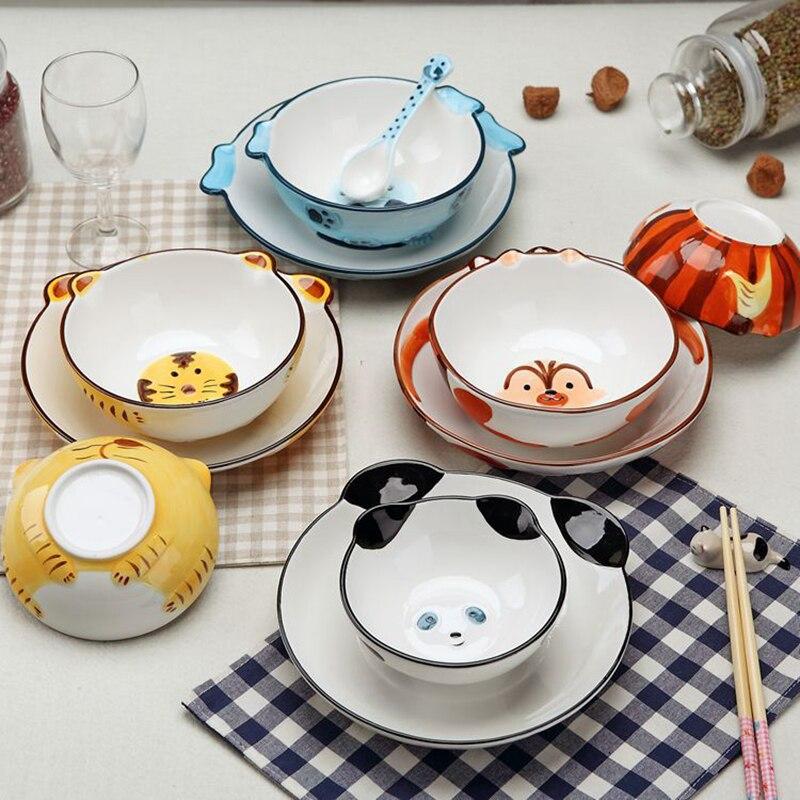 1 Set Forest Relief Handpainted Ceramic Dinnerware Set