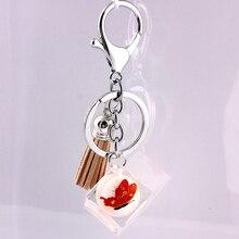 Liga de Zinco de Cristal de vidro Moda Coreana Fivela Acessórios Do Carro chaveiro em lote conjunto da cadeia de moda chave da cadeia de telefone Móvel 11
