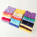 Fashion Kids Boy Girl Sweater Full Sleeve V-Neck Solid Color Outwear Top Clothes wt-0286