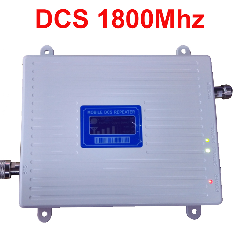 New Model Big Power 30dbm Gain 65dbi LCD Display DCS 1800mhz Mobile Phone Signal Booster Repeater DCS Booster Repeater Amplifier