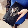 skull wallet 2015Long design purses vintage punk wallet skull skull purse punk wallet mobile phone women's wallet women's purse