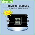 Display LCD duplo Ganho 65dB Dual Band de Reforço de Sinal GSM 900 MHz 2100 MHz 2G 3G GSM WCDMA EDGE/HSPA Móvel de sinal repetidor