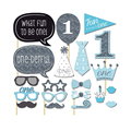 Free Shipping 20pcs/lot Photo Booth Props Photobooth For Blue Boy Pink Girl Baby Shower Party 1st Birthday Party Decorations Kid