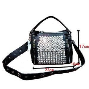 Image 5 - ブロードバンド女性のバッグ 2020 新ダイヤモンドハンドバッグ女性メッセンジャーバッグパッケージバッグとドリルワイドストラップショルダーミニラインストーン