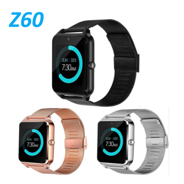 Z60 Smart Watch Men With Bluetooth Phone Call 2G GSM SIM TF Card Camera Smartwatch Android relogio inteligente PK DZ09 Relogio-in Smart Watches from Consumer Electronics    1