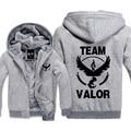 New Moltres Team Valor Pokemon Go Hoodies Sweatshirt Men Casual  Male Jackets Hoody Cloak Shawl Men Cloth Warm