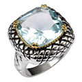 Simulated Aquamarine 925 Sterling Silver Ring Factory Price For Women and Men Size 6 7 8 9 10 11 F1516