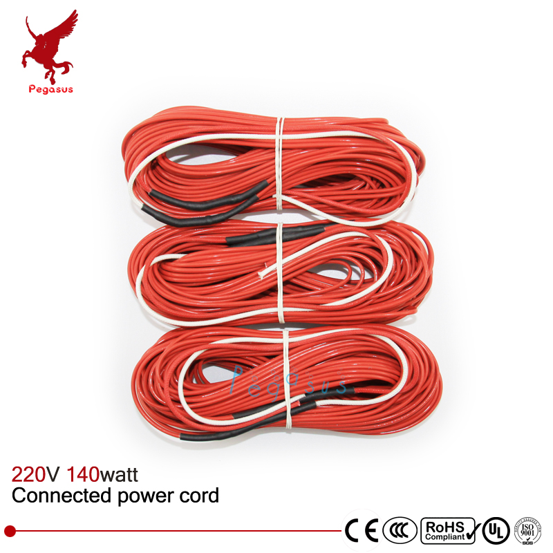 F24k 20meters 140w 17ohm Carbon Fiber Heating Wire Ptfe