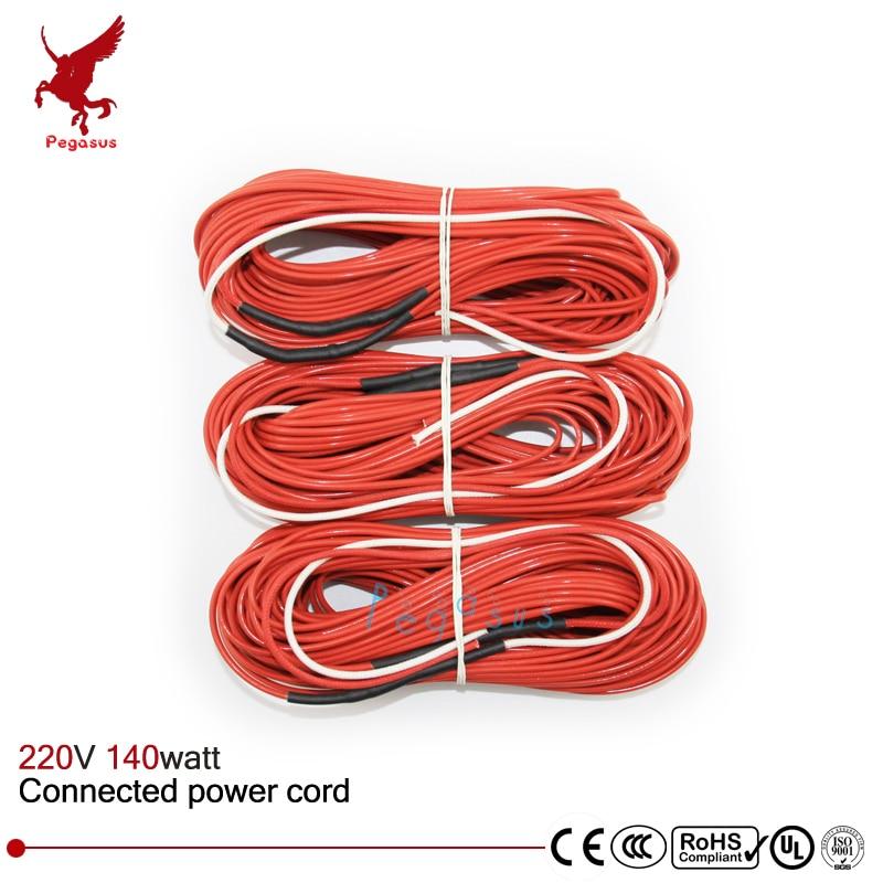 F24K 20meters 140w 17ohm Carbon fiber heating wire PTFE Teflon ...