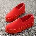 2016 новый сдобы толстым дном мелкая рот холст обувь женская обувь повседневная обувь педали студент плоским дном обувь w343