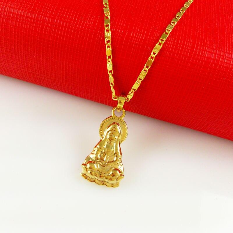 Новинка 2017 года прибыл покрытие золото Ожерелья для мужчин Подвески для Для мужчин драгоценности благословение здоровья безопасный амулет...
