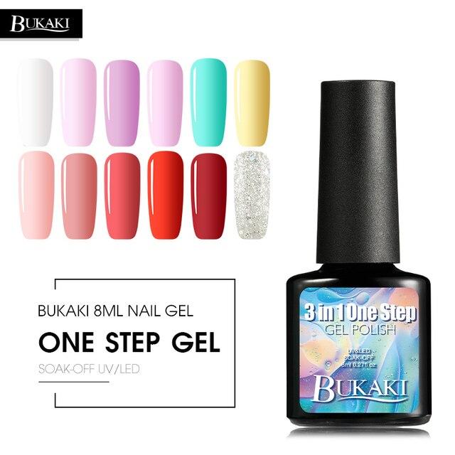 Bukaki Pink Nude Colors One Step Gel Nail Polish Nail Art Design 3