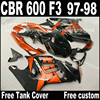 Freeship Motorcycle Parts For HONDA CBR 600 F3 Fairings 1997 1998 CBR600 F3 97 98 Brown